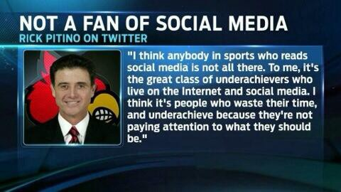 Rick Pitino Makes a Bold Statement About Social Media