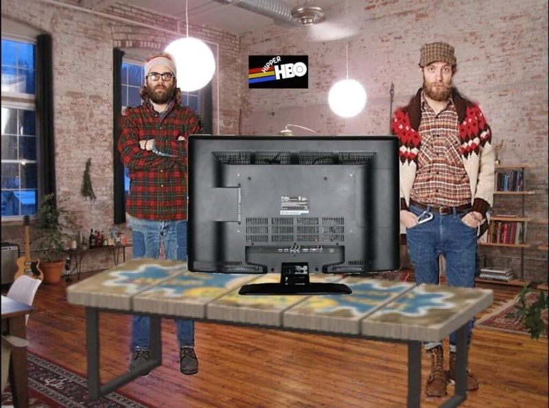 hipster and home box