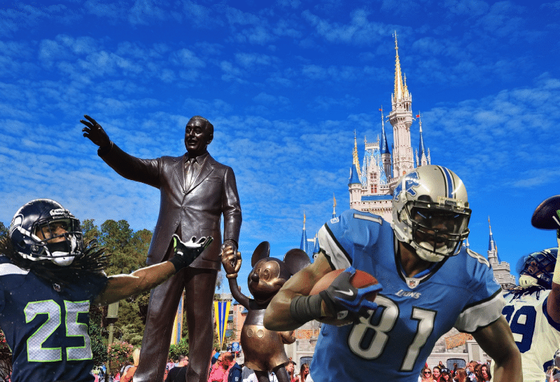"Which NFL team's fans will be ""Going to Disney World""?"