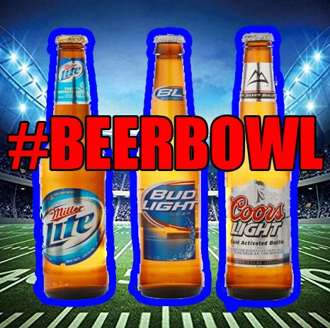 Bud Light vs. Miller Lite vs. Coors Light compete in #BeerBowl 2019